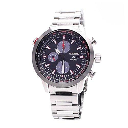 Seiko Herren-Armbanduhr Prospex Chronograph Quarz Edelstahl SSC349P1