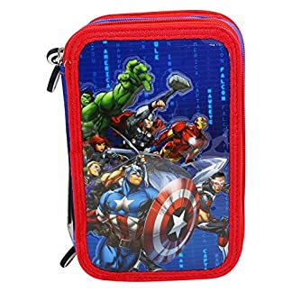 DC Comics The Avengers Estuche Escolar Làpices de colores Plumier triple