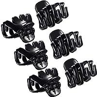 24 Piezas 3 cm Mini Grip Clip de Pulpo Pinza de Pelo de Araña (Negro)