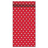 Susy Card 40001166 Tischband, Tischdekoration Motiv: Fifties rot/weiß, Airlaid