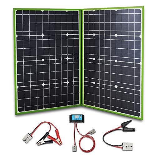 XINPUGUANG Panneau Solaire pliable 100w Chargeur solaire monocristallin de 2 x 50w 12v avec le contrôleur 10A pour camping-car, voiture, camping, tente, voyage, batterie 12v, recharge extérieure