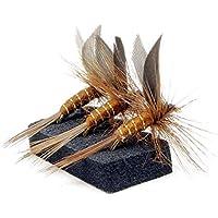 Lakeland Fishing Supplies 3, 6 o 12 Moscas Lunns para truchas secas, Hook Size 14