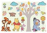 Komar - Disney - Deco-Sticker WINNIE POOH NATURE LOVERS - 50 x 70 cm- Wandtattoo, Wandsticker, Wandaufkleber, Wandbild, Winnie Puh - 14014h