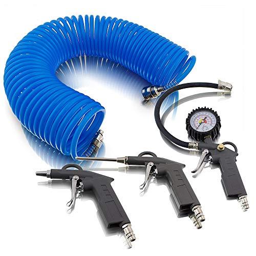 4 teiliges Set accessori per aria compressa per compressore aria pneumatici pressione...