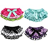 JuDanzy Satin Baby Ruffle Bloomers Diaper Covers In A Variety Of Colors &sizes (6-24 Months