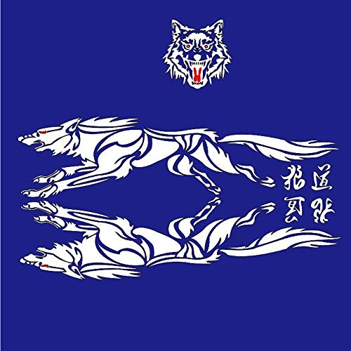 Creative 1 Pcs Car Styling Wolf Totem Car Sticker Auto Body Side Wolf Decal Emblem Vinyl Personality Sticker Automobiles & Motorcycles Car Stickers
