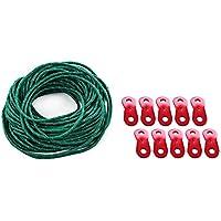 Shuzhen,Ajustador de Cable de Cuerda de Nylon Reflectante 2 en 1 para Acampar al Aire Libre(Color:Verde)