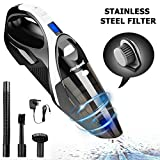 Cordless Handheld Vacuums Cleaner Rechargeable - [2nd Gen] 13.5V 6000Pa Strong Cyclonic Suction