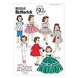 Butterick Schnittmuster 5865–Fancy Retro Puppe Kleidung