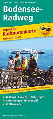 Bodensee-Radweg: Leporello Radtourenkarte mit Ausflugszielen, Einkehr- & Freizeittipps, wetterfest, reissfest, abwischbar, GPS-genau. 1:50000 (Leporello Radtourenkarte / LEP-RK) -