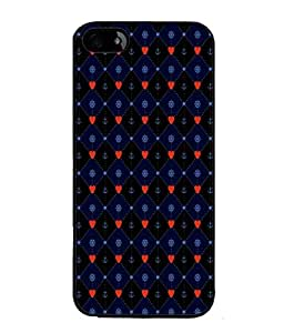 PrintVisa Designer Back Case Cover for Apple iPhone 5S (Anchor In Blue And Red Design)