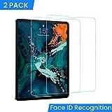 Protection Ecran Film en Verre Trempé Face ID Sensible pour iPad Pro 12.9 Pouces 2018 2 Pièces, DIVI Protecteur d'Ecran 9H Glass Screen Protector pour Apple Nouvel iPad Pro 2018 12.9 inch