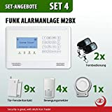 GSM Funk-Alarmanlage Set von Multi Kon Trade I Alarmanlage Komplettsystem M2BX SET-4 I Touch Alarmanlage mit Bewegungsmelder, Tür- und Fensterkontakt, Fernbedienung, externe Sirene und App Steuerung - 4