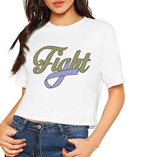 Mujeres Sexy Manga Corta Camisetas Lucha contra cáncer