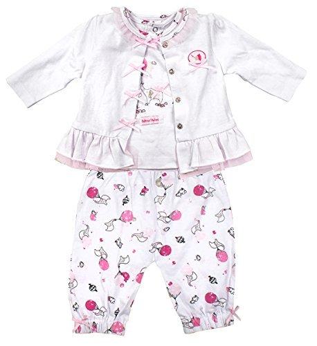 Zip Zap Mädchen Baby Ballerina Elefant Jacke Oberteil & Hosen Outfit Größen von Neugeborene bis 12 Monate - Mehrfarbig, Up to 9 Months
