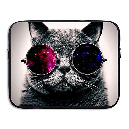 e Business Briefcase Sleeve Cat with Sunglasses Pattern Laptop Sleeve Case Cover Handbag for 15 Inch MacBook Pro/MacBook Air/ASUS/Dell/Lenovo/Hp/Samsung/Sony ()