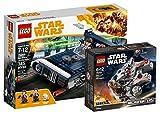 Star Wars Lego Han Solo 's landspeeder 75209juguete + Lego 75193–Millennium Falcon Micro Fighter, Juguete