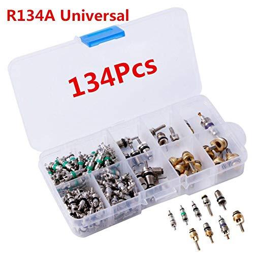 Clevoers 134PCS - Kit di Utensili per Aria condizionata, climatizzatore, Pneumatici Freddi, Ventilazione, Candele Remover Too