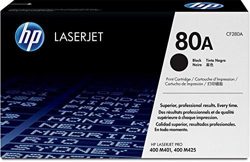 Preisvergleich Produktbild HP 80A (CF280A) Schwarz Original Toner für HP Laserjet Pro M401, HP Laserjet Pro M425