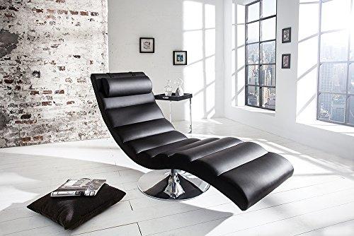 Moderne Design Liege RELAXO schwarz Sesselliege Sofaliege Polsterliege -