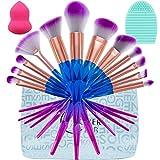 Lover Bar, set di 12 pennelli per make up; kit strumenti professionali trucco, accessori bellezza, cosmetici. Pennello per cipria, per fondotinta, per contorno occhi, per illuminante, per fard guancia, per correttore, per ombretto, per labbra, per eyeliner, pennello kabuki