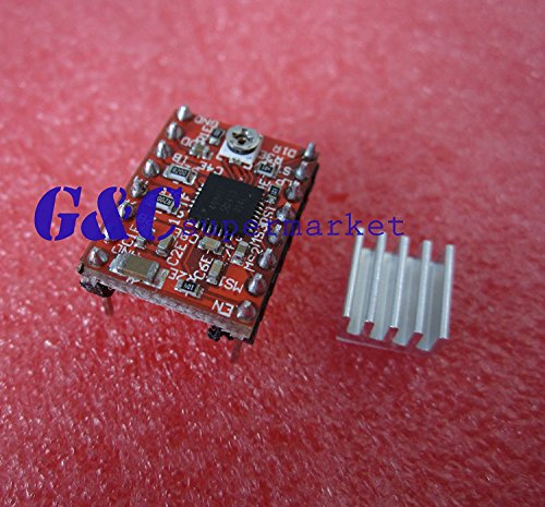 Tradico® 10PCS A4988 Stepper Driver Module Polulu Compatible for Reprap Prusa RED M36