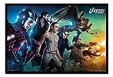 Legends of Tomorrow Team Poster Noir encadré–96.5x 66cms (environ 96,5x 66cm)