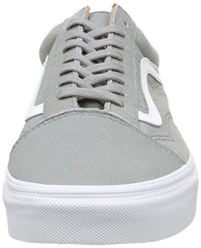 Vans Ua Old Skool, Scarpe da Ginnastica Basse Uomo Grigio (Premium Leather Wild Dove/true White)
