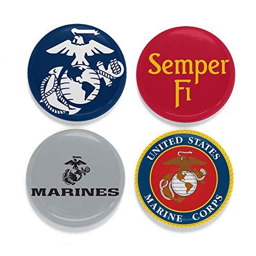 buttonsmith Offiziell USMC Lizenzprodukt Marine Magnet-Set-3,2cm Magnete, Set von 4-hergestellt in den USA, 1Jahr Garantie 1.25