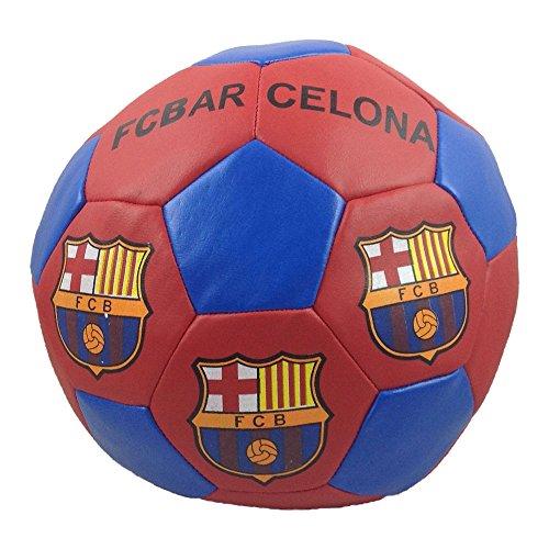 Pallone da calcio del Club Barcellona Barça. Pallone morbido per bambini per giocare in casa, in giardino, al parco. Prodotto ufficiale con licenza