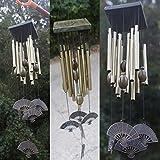 CALISTOUK 12 piezas tubo abanico en forma de campana de viento colección de música jardín decoración del hogar