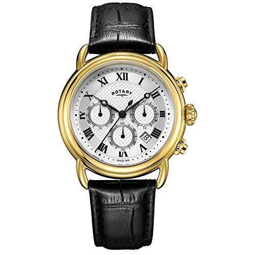 Rotary Herren Canterbury Chronograph Leder Uhr GS05333/21