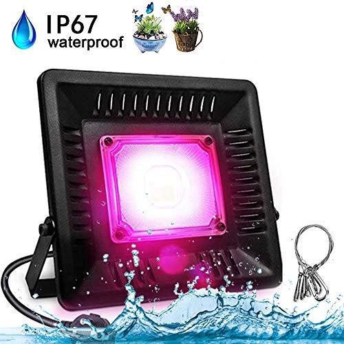 50W LED Pflanzenlampe Vollspektrum - COB Pflanzenlicht IP67 Wasserdicht Wachsen Grow Lampe fur Pflanzen Wachstum im Gewächshaus Wachstumslampe