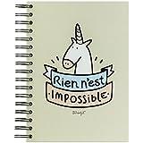 """Mr. Wonderful - Cuaderno, diseño """"Rien n'est impossible"""""""