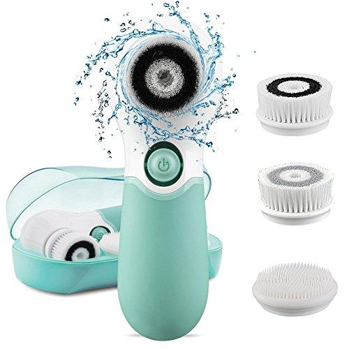Gesichtsreinigungsbürste,Elektronische Gesichtsbürste mit 3 Peeling Bürstenaufsätze, Für alle...