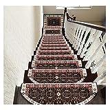 LVAB Stufenmatten - Hochwertige Stufenmatten,Attraktiver Stufenschutz Für Ihre Treppe,Matten Für Rutschsichere Treppenaufgänge 5 Stück Y (Farbe : A, größe : 80 * 24cm)