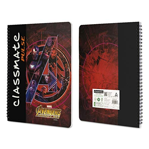 Classmate Pulse Spiral Notebook - 240 mm x 180 mm, Soft Cover, 180 Pages, Unruled Image 3