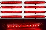8Stück 24V 12LEDS Seite hinten Marker rot Lichter für Truck Trailer Caravan.