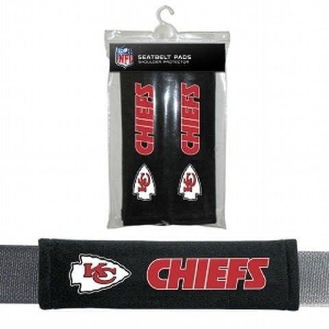 Kansas City Chiefs Velour Seat Belt Pads