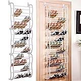 Ultrey 12 Fächer Schuhregal Tür Schuhablage, Platz für 36 Paar Schuhe Türregal Schuhständer hängend Metall 60 x 20 x 180cm(L x B x H)