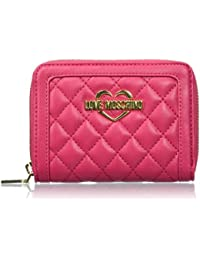 Love Moschino Damen Portafogli Nappa Pu Trap.Fuxia Geldbörse, Pink (Fuschia), 10 x 13 x 3 cm