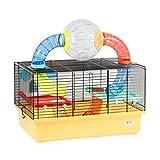 CTC-Trade | Hamsterkäfige Beige Außenmaße 49x32,5x49 Mäusekäfig Nager Hamster Plastik Kleintier Käfig mit Zubehör