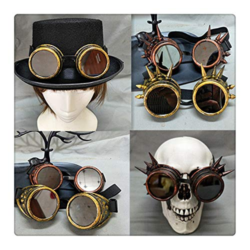 Z-one 1 Halloween Handmade DIY Prop Schaf Horn Gothic Steampunk Cosplay Brille Zubeh?r (Raver Kostüm Halloween)