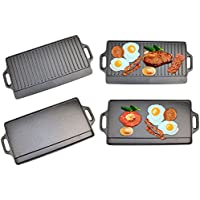 Plancha antiadherente, reversible, para barbacoa y cocina con fogón, de Top Home Solutions®