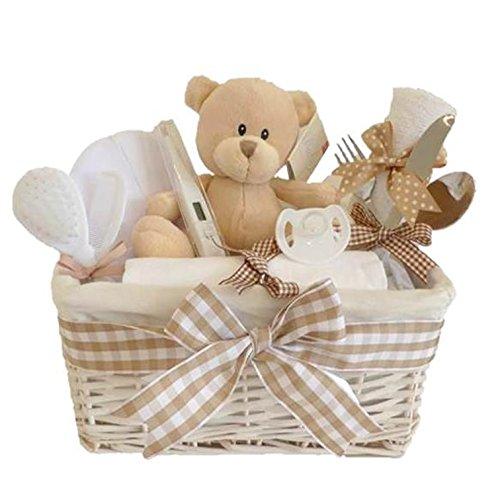 Glimmer vimini neutro Baby Baby regalo/Cesto regalo/unisex-Cesto Regalo di nuovo arrivo regali//maternità regalo/unisex bambino Cesto (Cesti Bambino Di Vimini)