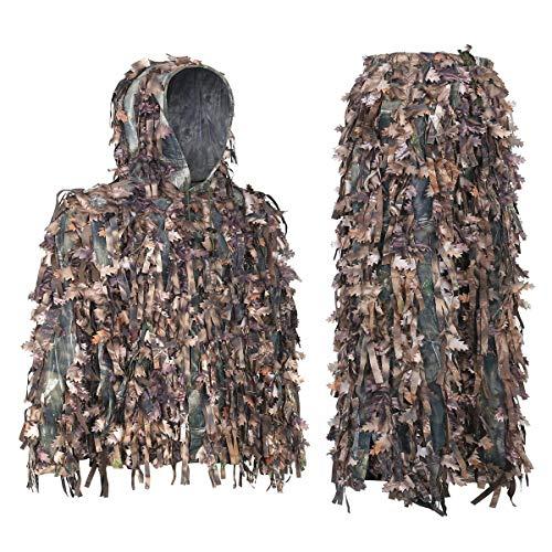 nzug 3D Hybrid Camouflage leichte Kleidung Outdoor Gear Ghillie Anzüge, M/L & XL/XXL, braun, M-L ()
