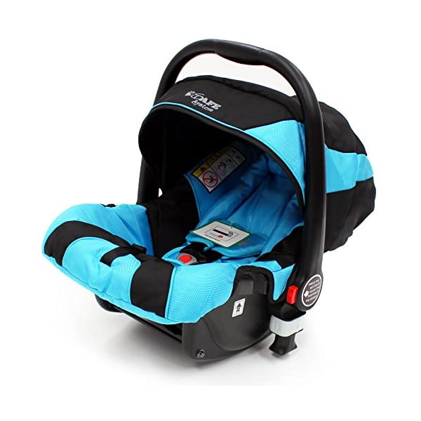 i-Safe System - Ocean Trio Travel System Pram & Luxury Stroller 3 in 1 Complete With Car Seat iSafe  9