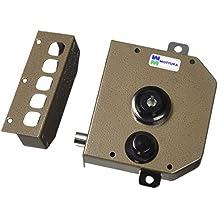 Mottura - Cerradura triple con medio giro Bomba - cilindro de 30 mm de diámetro con