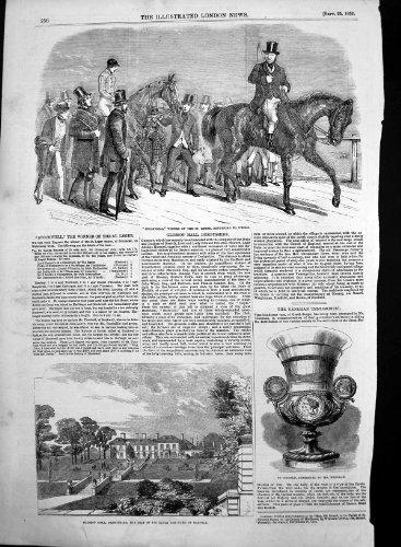 St Leger 1852 de Gagnant de Glossop Hall Derbyshire Stockwell par original old antique victorian print