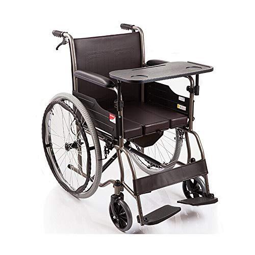 Rollstuhl Aluminiumlegierung zusammenklappbare tragbare manuell Rollstuhl/ergonomischer Stuhl und Rücken Das größte Lager 100 kg Größe: 98 * 65 * 91,5 cm -